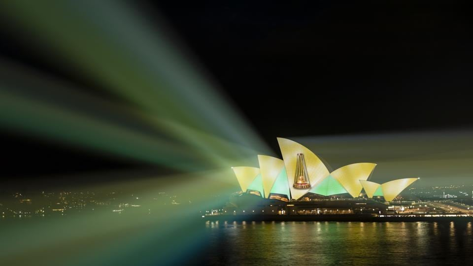 Light projections from the Sydney Opera House honoured Australia's comprehensive win in the Ashes. (Getty Images/Cricket Australia)
