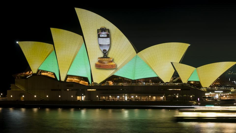 The Sydney Opera House was lit up to celebrate the men and women's Ashes triumph in the summer.