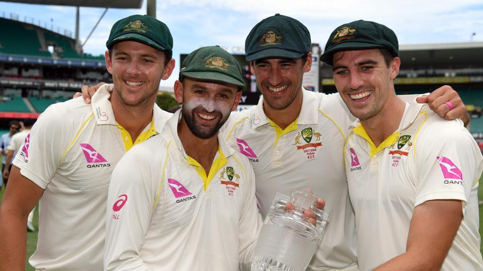 Josh Hazlewood (L), Nathan Lyon (2/L), Mitchell Starc (2/R) and Pat Cummins (R) were the only four members of the Australia team to take an England wicket in the recently concluded Ashes series, which the hosts won 4-0.