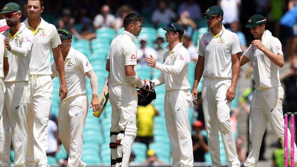 On Monday, Australia bowled England out for 180 to win the Sydney Test by an innings and 123 runs. (AFP)