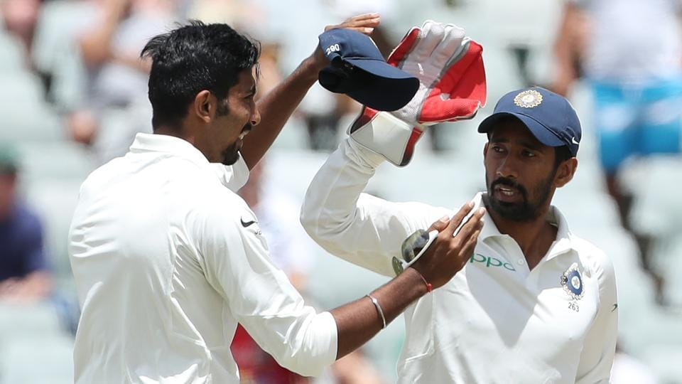 Wriddhiman Saha is now the first India wicketkeeper to take 10 catches in a Test away from home. He achieved the feat in the Cape Town Test against South Africa.
