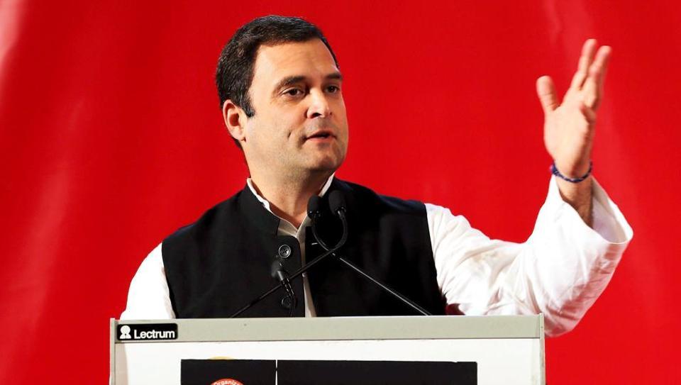 Congress president Rahul Gandhi addresses valedictory function organised by Global Organisation of People of Indian Origin in Bahrain.