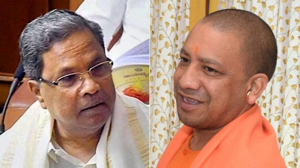"""Earlier on Sunday, Siddaramaiah lashed out at the Uttar Pradesh Chief Minister's earlier address in Bengaluru and opined that the latter could """"learn a lot"""" from him."""