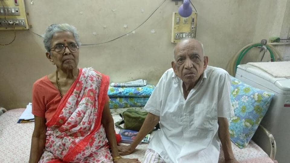 The couple, Iravati Lavate, 79, a retired school principal, and her husband Narayan, 86, a former government employee, have no major health problems.