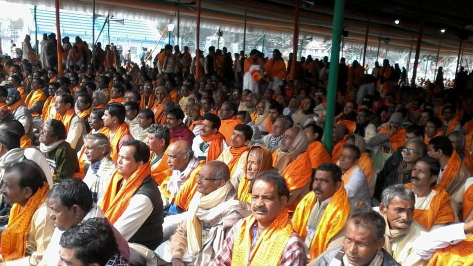 Hindu priests at the one-day conference held by Trinamool Congress in Bolpur town on Monday.