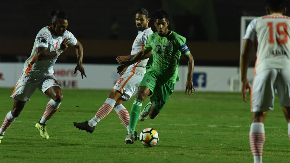 Chennai City FC and Neroca FC played out a goalless draw in the I-League on Tuesday.