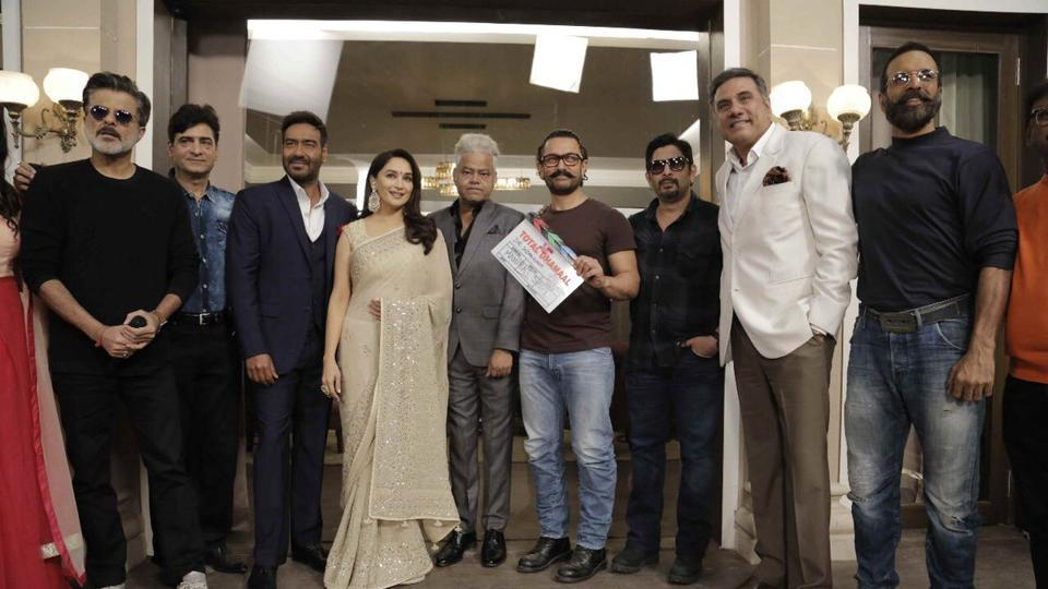 Aamir Khan sounded the first clap marking the beginning of Total Dhamaal's shooting.