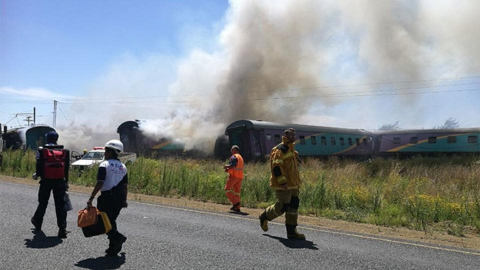 No fatalities were reported in the accident, which took place days after more than a dozen people were killed and hundreds injured when a train struck a lorry, derailed and burst into flames in central South Africa.