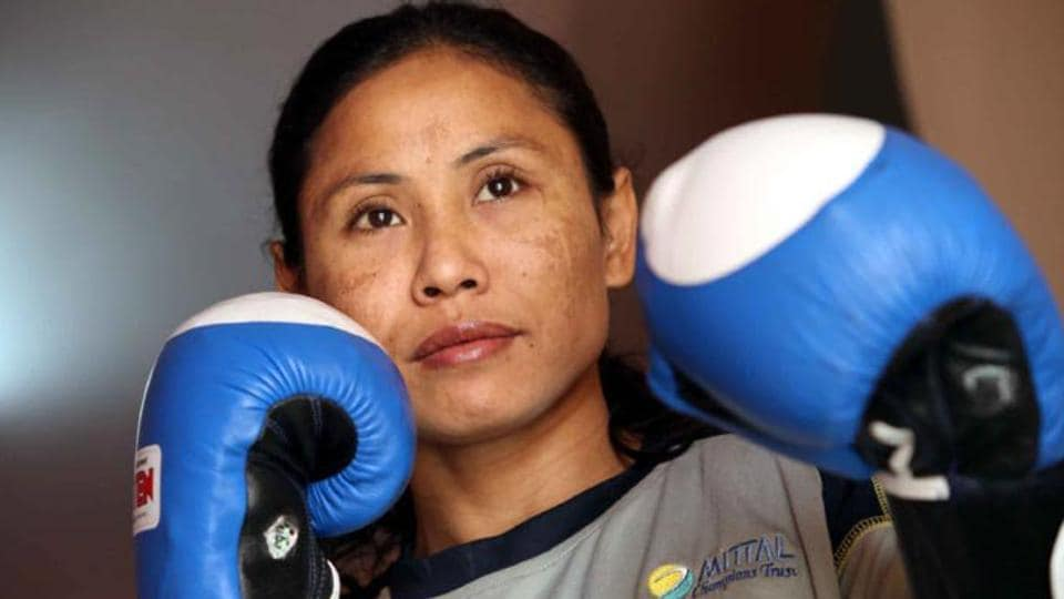 Sarita Devi has entered the quarterfinals of the National Women's Boxing Championships.