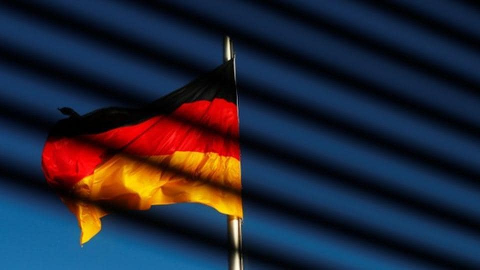 The German flag is pictured at the Reichstag building in Berlin, Germany.