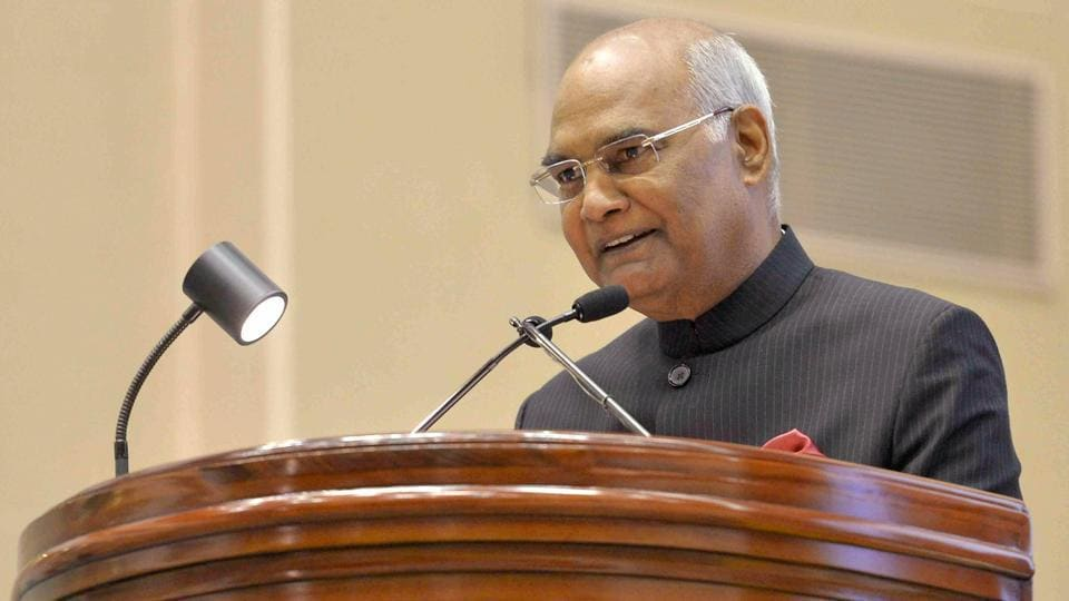 President Ram Nath Kovind speaks at the inauguration of the Constitution Day Celebrations at Vigyan Bhavan in New Delhi.