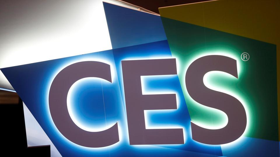 The CES logo is displayed in the Las Vegas Convention Center lobby during the 2018 CES in Las Vegas, Nevada, U.S. January 8, 2018. REUTERS/Steve Marcus
