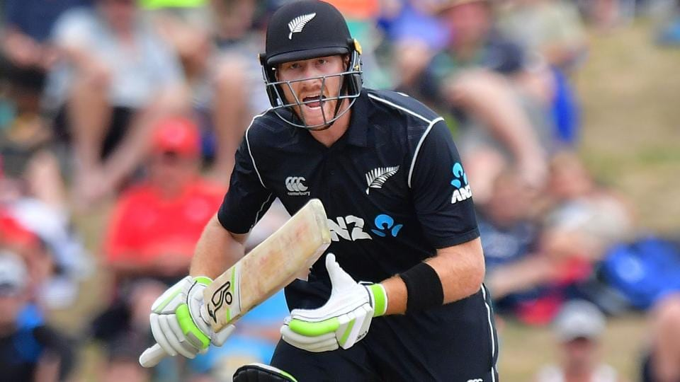 New Zealand's Martin Guptill plays a shot during the second ODIagainst Pakistan at Saxton Oval in Nelson on Tuesday.