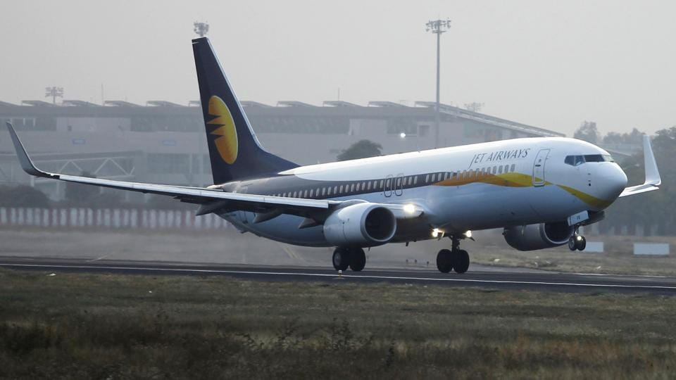 A Jet Airways passenger plane takes off from Sardar Vallabhbhai Patel International Airport in Ahmedabad February 1, 2013.
