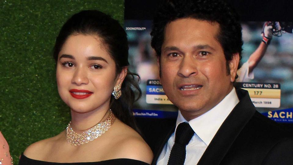 Sachin Tendulkar with daughter Sara.