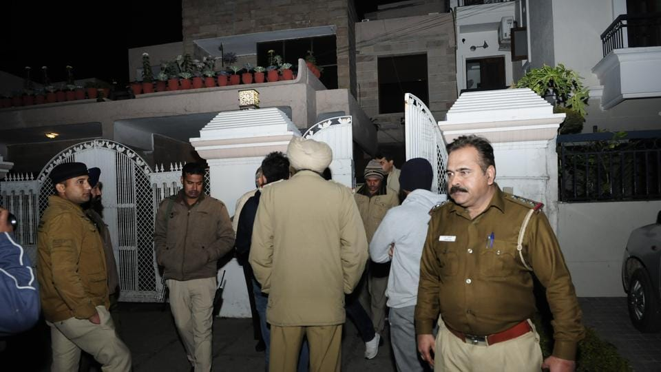 Investigation underway at the house in Sector 33, Chandigarh.