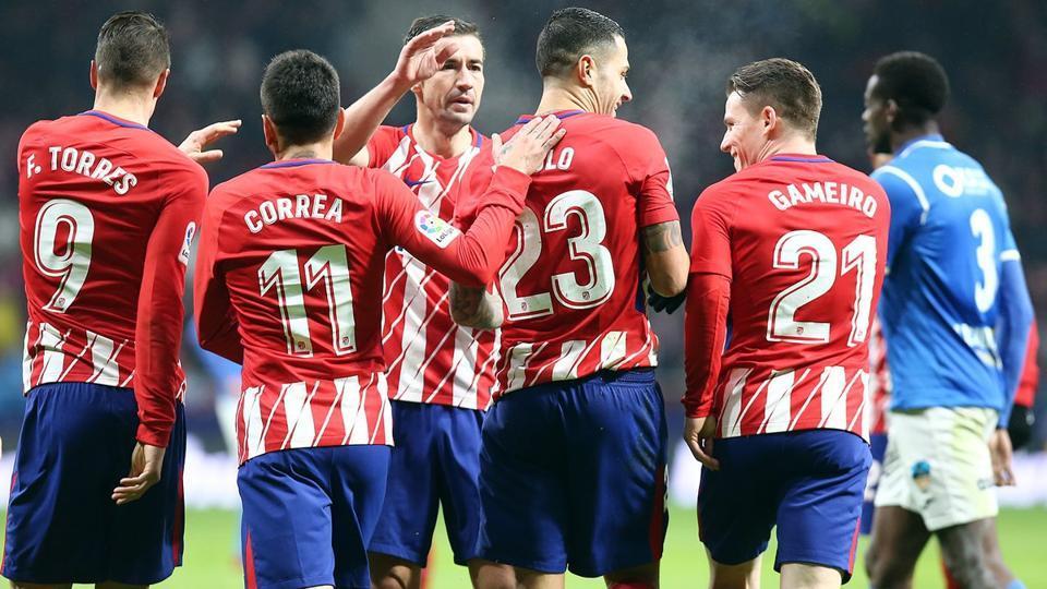 Atletico Madrid won 7-0 on aggregate against Lleida Esportiu in Copa del Rey.