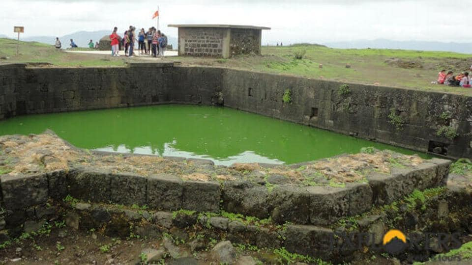 Pune youth,Lohagad fort,pond