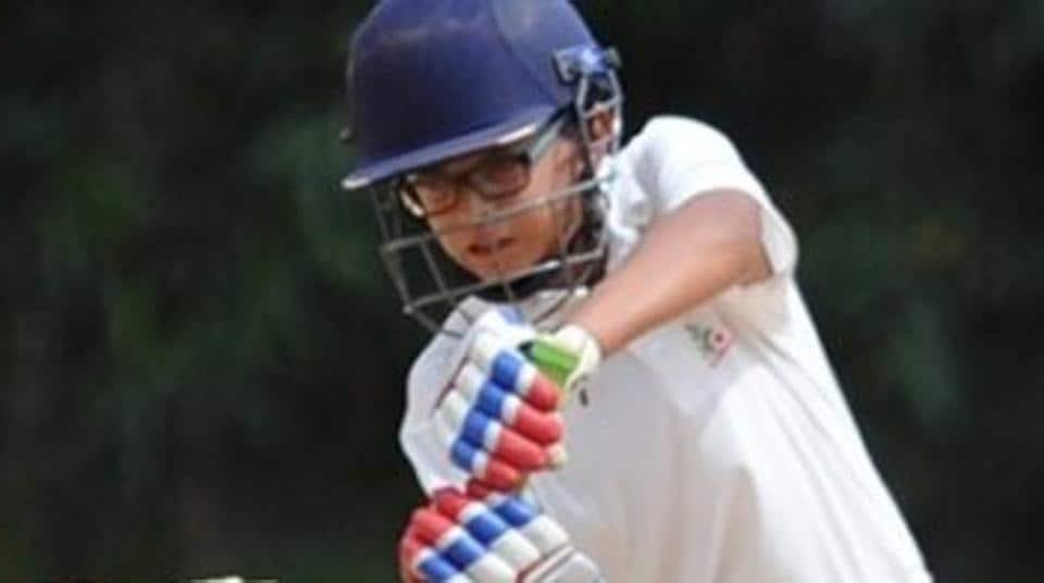 Samit Dravid, son of Rahul Dravid, scored 150 for Mallya Aditi International School in an inter-school cricket tournament.