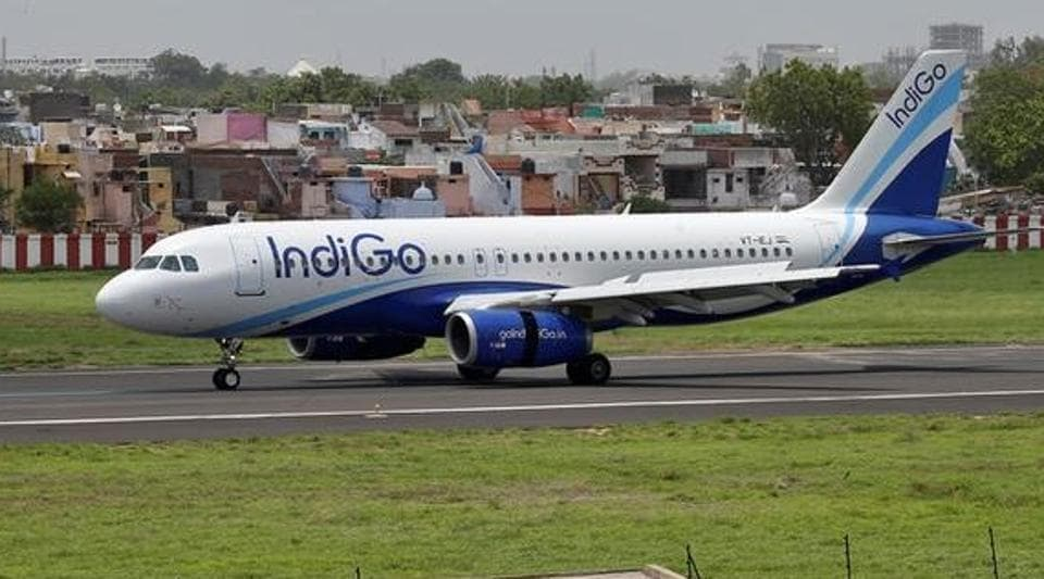 An IndiGo Airlines aircraft lands at the Sardar Vallabhbhai Patel international airport in Ahmedabad. Indigo has claimed that DIAL had not appropriately considered the inconvenience which would be caused to passengers at the Delhi airport. (Reuters file photo)