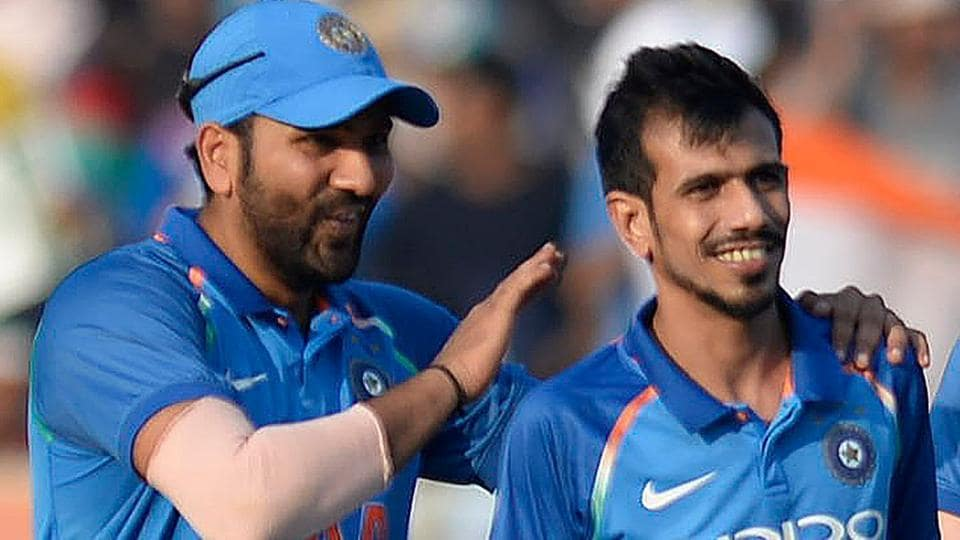 Image result for rohit sharma and chahal
