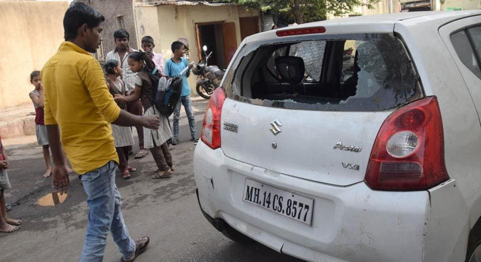 Six vehicles were damaged by unknown persons at Ramnagar and Dattanagar, Chinchwad in Pune on Monday.
