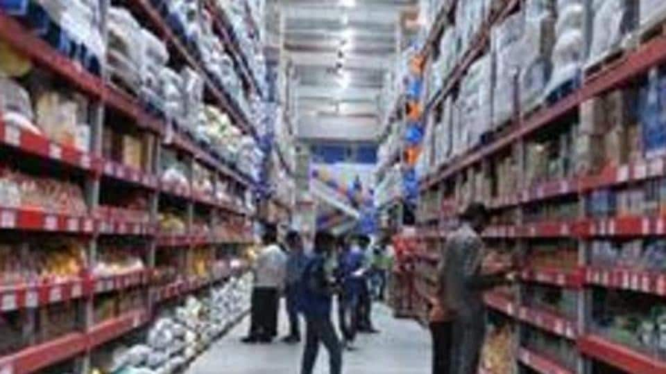 Shoppers browsing through the products of a newly opened Bharti Wal-Mart Best Price Modern wholesale store in Hyderabad.