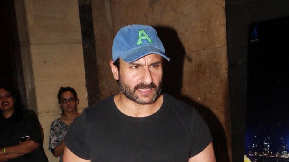 Saif Ali Khan at the special screening of Kaalakaandi in Mumbai.