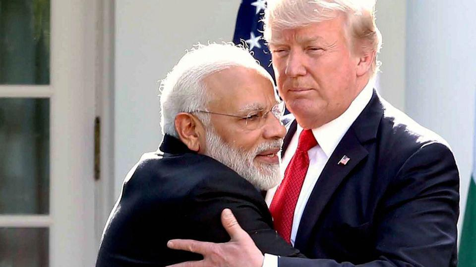 File photo of Prime Minister Narendra Modi with US President Donald Trump at the White House in Washington on June 27, 2017.