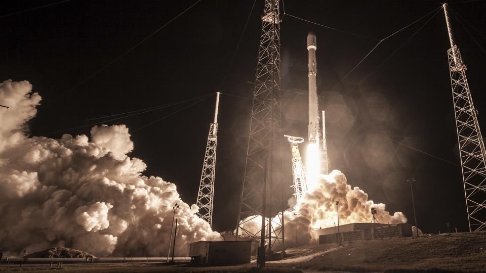 This photo made available by SpaceX shows the launch of the Falcon 9 rocket at Cape Canaveral for the 'Zuma' US satellite mission.