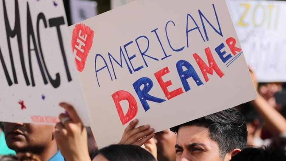 Students gather in support of DACA (Deferred Action for Childhood Arrivals) at the University of California Irvine Student Center in Irvine, California, U.S., October 11, 2017.