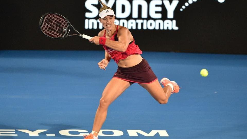 German tennis player Angelique Kerber in action at the Sydney International.