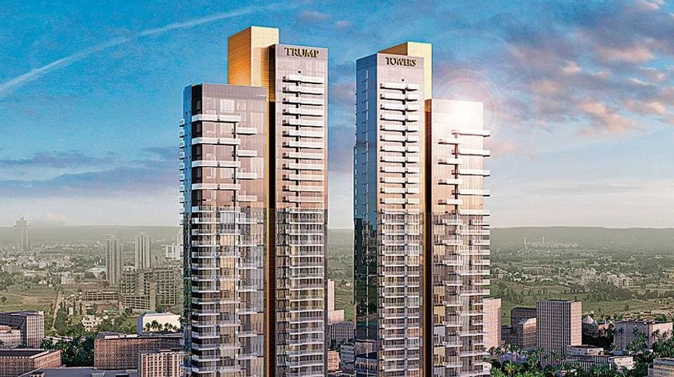 An artist's impression of the Trump Tower project in Gurgaon, which entails a total development cost of around Rs1,000-1,500 crore and would comprise around 275 luxury homes.