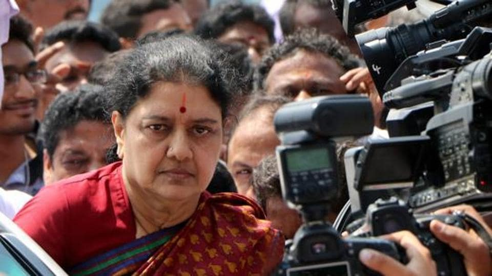 Sasikala is serving a four-year prison term in a disproportionate assets case.