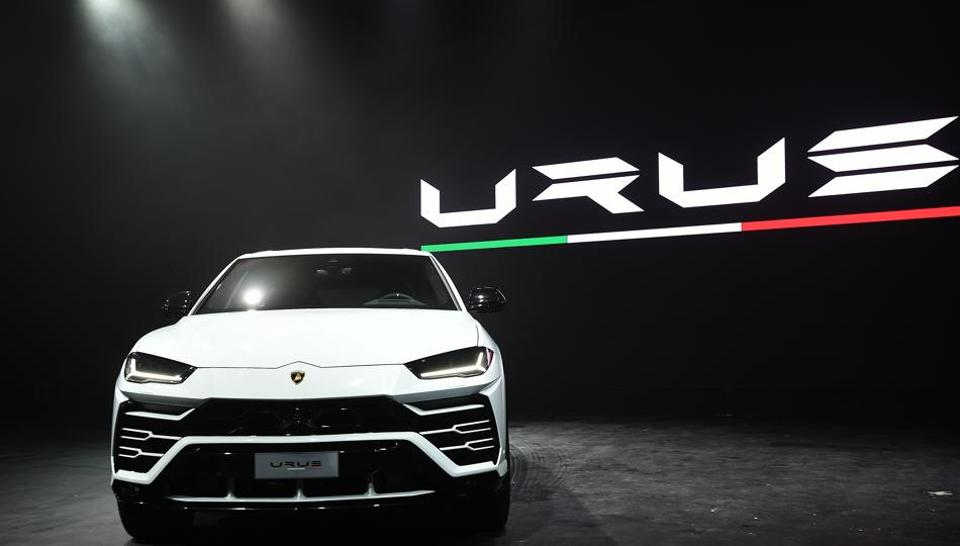 Italian exclusive sports car-maker Lamborghini launched its first super sports utility vehicle 'Urus' in India on Thursday in Mumbai. (Vijayanand Gupta/HT Photo)