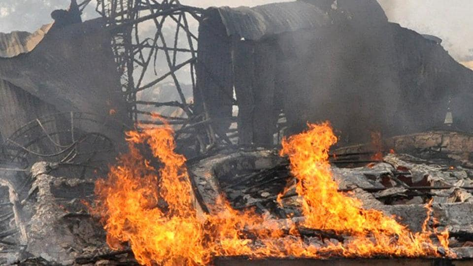 A major fire gutted a marriage venue near Jawahar Circle in Jaipur on Thursday.