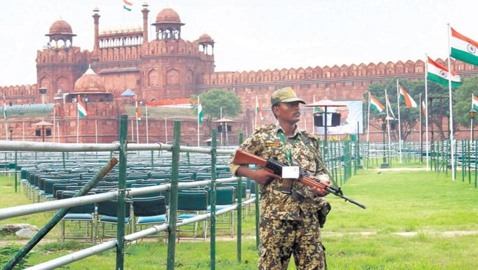 The Red Fort, where the  Independence Day function is held every year, was attacked by Lashkar-e-Taiba terrorists on December 22, 2000. Two soldiers and a civilian were killed in the incident. (Ajay Aggarwal/HT Photo)