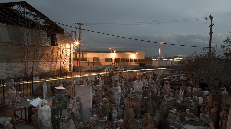 Like the 2,200-year old, life-sized sculptures of about 9,000 soldiers and imperial officials dug up in northwestern China, many of Goumas' pieces stand in tidy ranks, in a yard fronting the long, metal-roofed shed with its old-fashioned wood-fired furnace where he works. (Petros Giannakouris / AP)