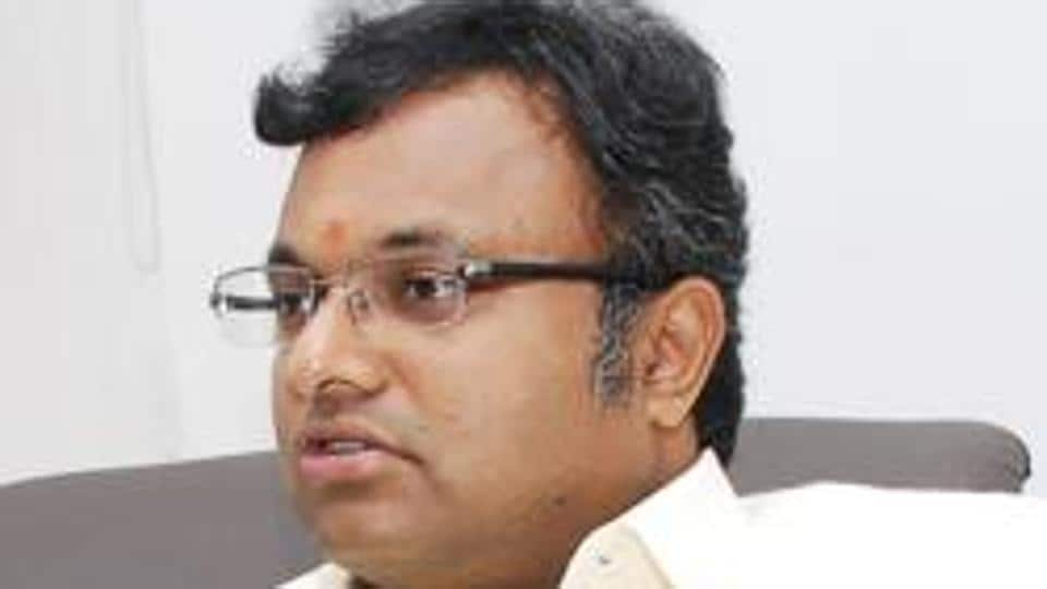 Karti Chidambaram, son of former Union minister P Chidambaram.