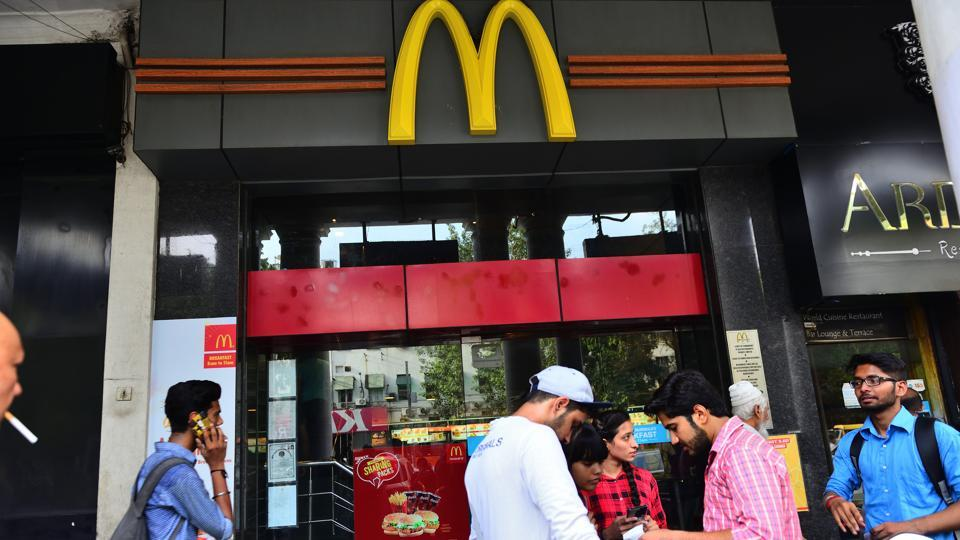 The McDonald's outlet at Connaught Place in New Delhi. The court allowed a representative of McDonald's legal team to visit some of the restaurants run by CPRPL on Thursday afternoon to collect samples of food and packaging as well as inventory.