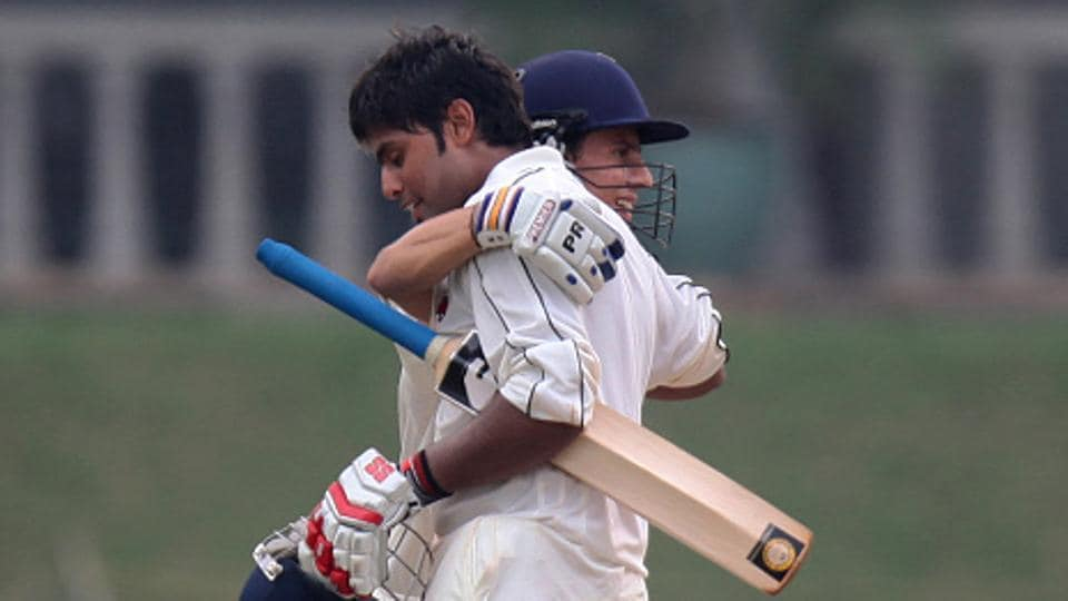 Siddesh Lad (L) scored 25 to help Mumbai notch a seven-wicket win over Maharashtra in their Syed Mushtaq Ali T20 clah on Thursday.