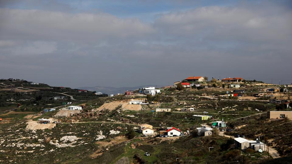 A general view of the Havat Gilad settlement outpost, West Bank.