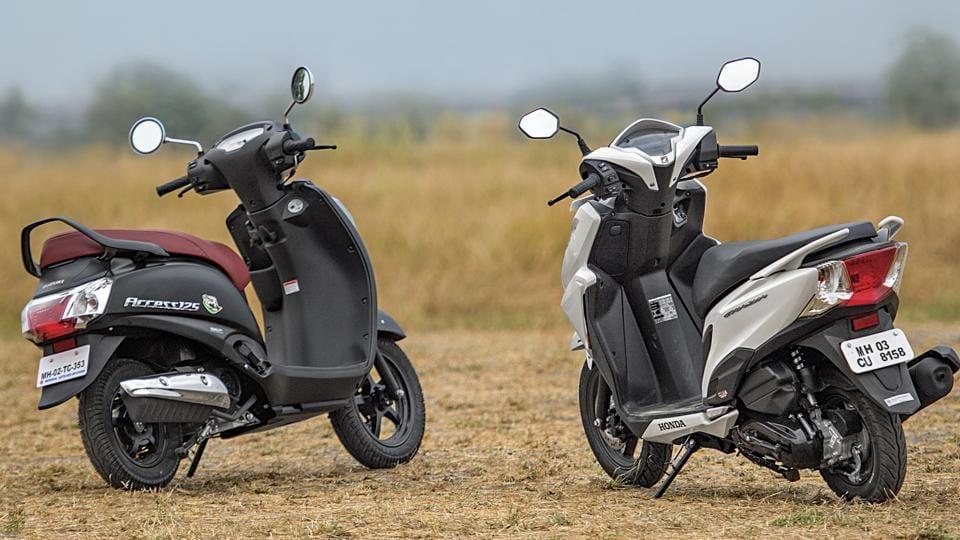 Can Honda's Grazia (right) end Suzuki Access' monopoly in the 125cc market?