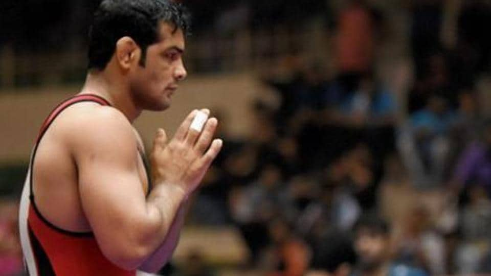 Sushil Kumar during the national wrestling championships in Indore last year where he received three walkovers including in the final. Parveen Rana has claimed he was threatened before the Nationals and the walkover he gave to Sushil was because he was struggling with an injury.