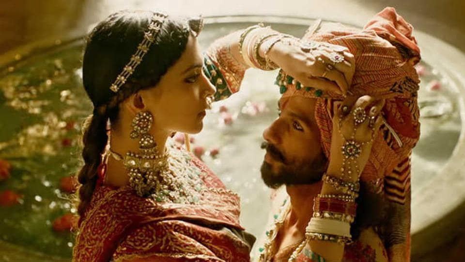 Deepika Padukone and Shahid Kapoor in a still from the film.