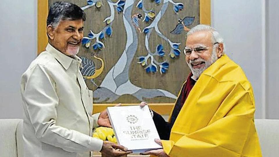 Andhra Pradesh chief minister N Chandrababu Naidu submitted a memorandum to Prime Minister Narendra Modi listing several demands of the state.