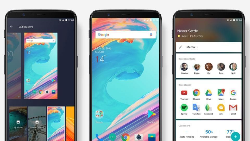 OnePlus 5T features an 18:9 bezel-less display.