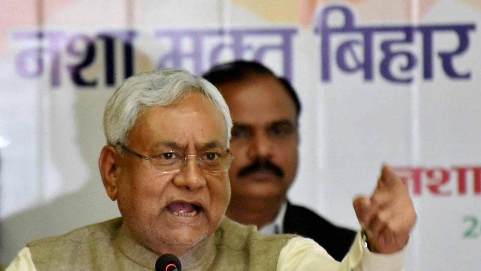 "Bihar Chief Minister Nitish Kumar's convoy attacked with stones in Buxar's Nandar village during his ""Vikas Samiksha Yatra"".He has been rescued safely but some of the security persons were injured. (PTI)"