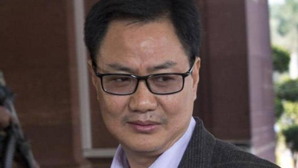 India's minister of state for home Kiren Rijiju at the Parliament house in New Delhi on December 14, 2016.