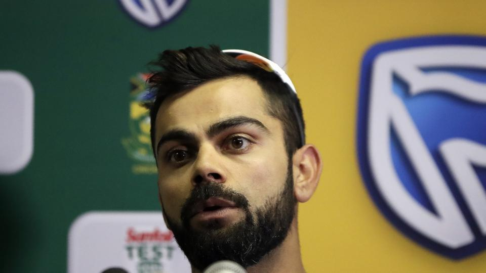 Virat Kohli addresses the media conference at Centurion Park in Pretoria, South Africa. (AP)